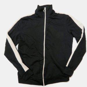 Zara Man Black Track Jacket Small Full Zip
